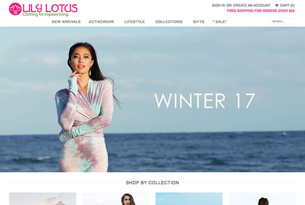 hawaii web design fashion clothing store ecommerce shopify