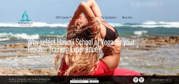 hawaii-web-design_HawaiiSchoolofYoga-Home