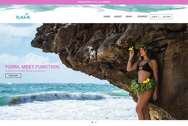 hawaii web design fashion clothing store ecommerce shopify